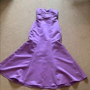 Stunning Purple Taffeta Gown w/ Detachable Straps